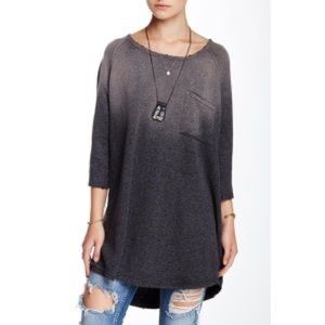 Free People Afternoon Ombre Linen Cotton Tunic